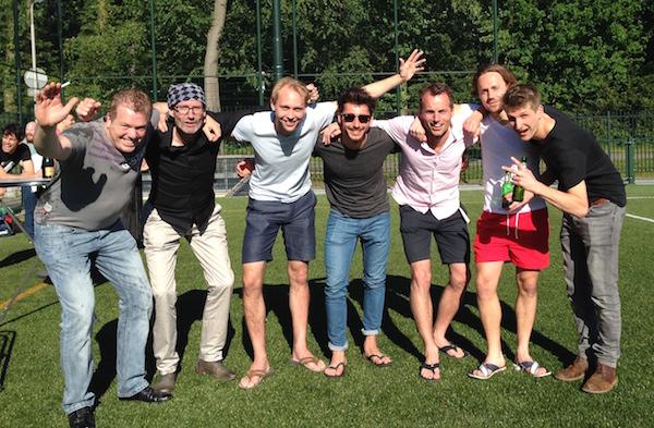 Op de foto staan vlnr: Ronald, Andre, Bauke, Sergio, Gerben, Daan, Kees